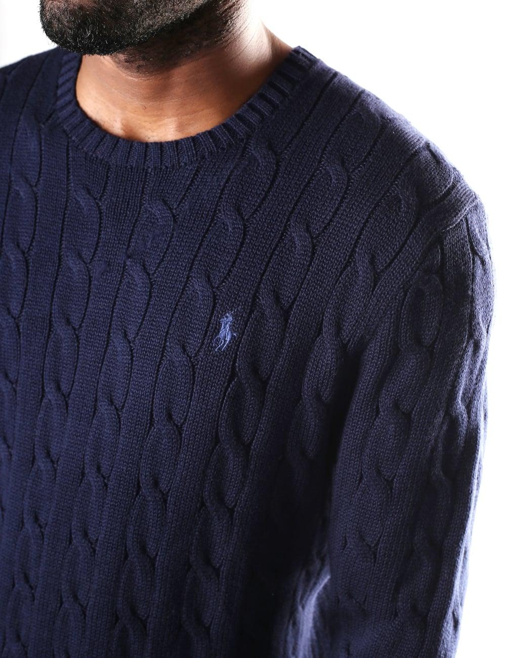 991cb363269 Polo Ralph Lauren Men s Crew Neck Cable Knit Jumper