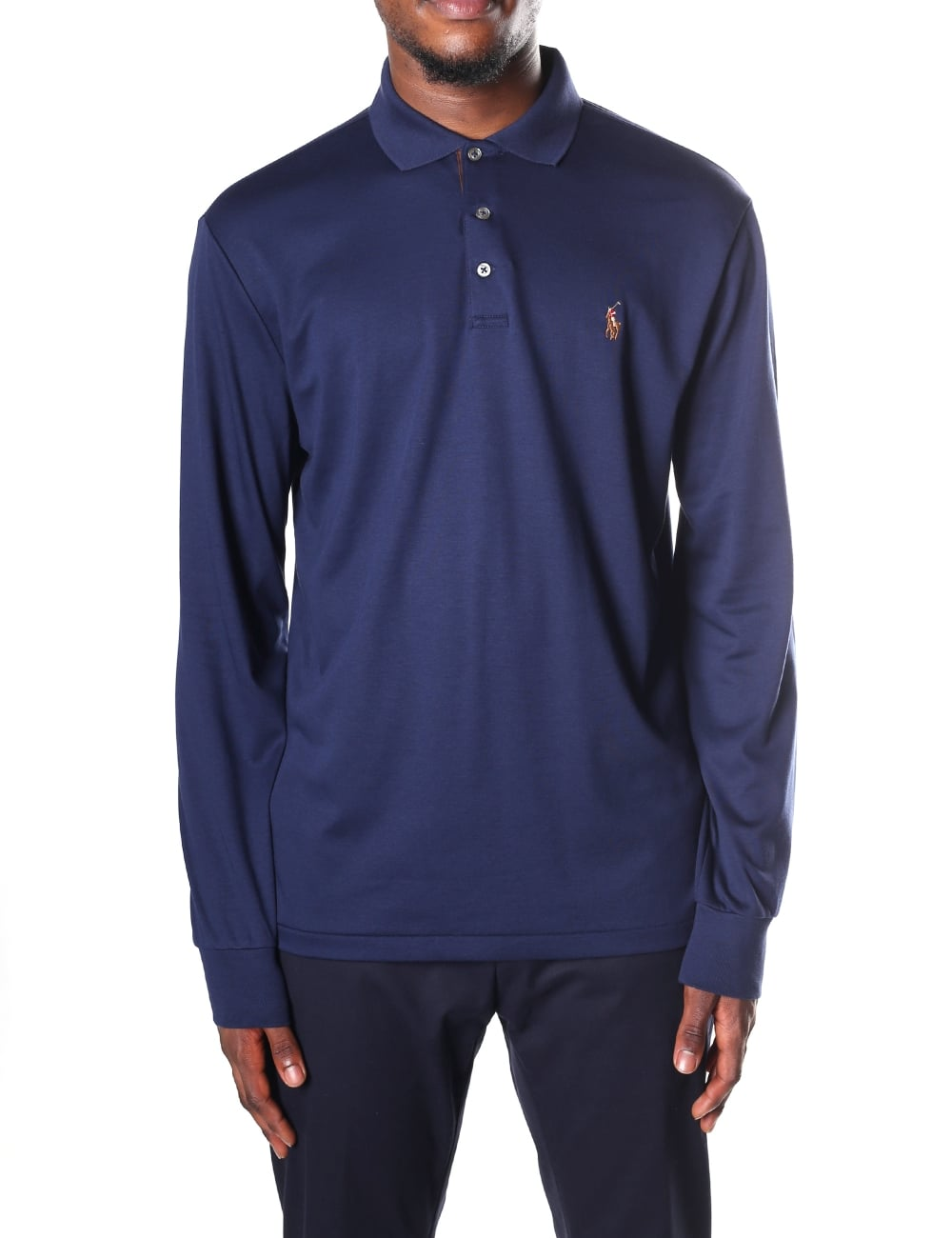 c894ed797a6f Polo Ralph Lauren Men's Custom Slim Fit Long Sleeve Polo Top
