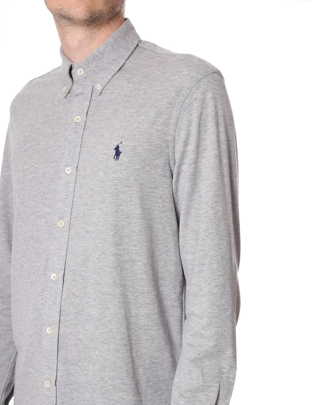 b4be775ad7e3 Polo Ralph Lauren Men s Featherweight Mesh Long Sleeve Polo Top