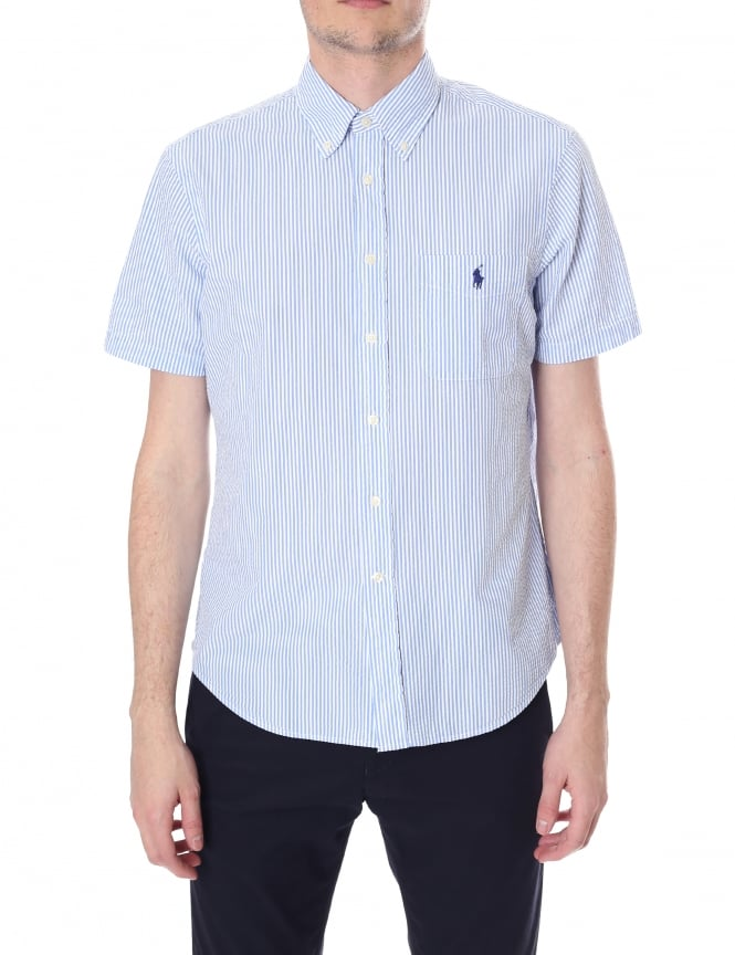 Polo Ralph Lauren Men's Seersucker Short Sleeve Shirt