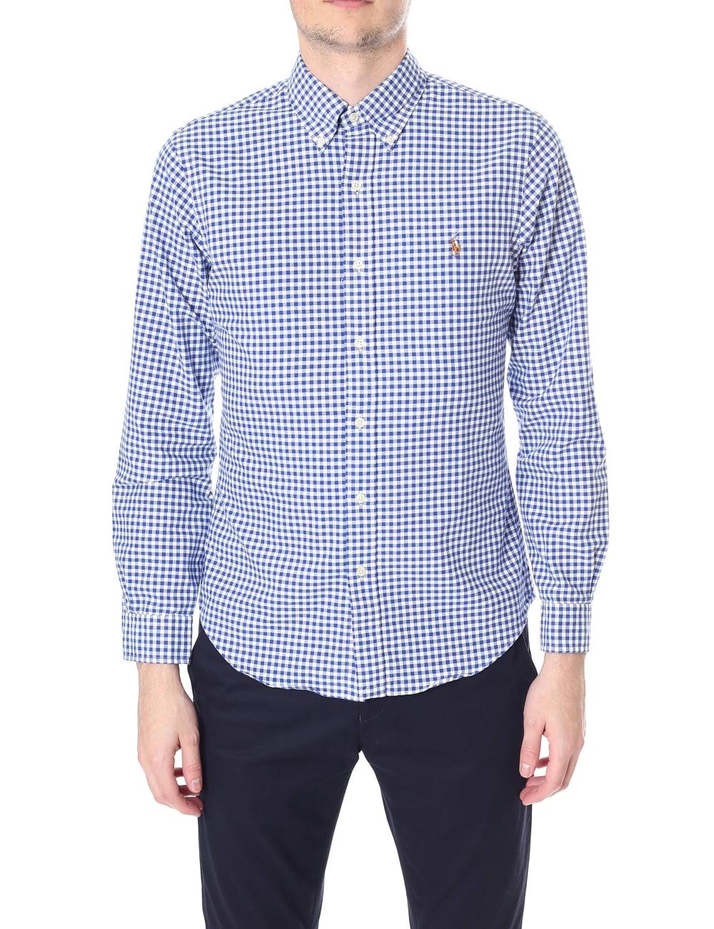 Polo Ralph Lauren Men s Slim Fit Check Long Sleeve Shirt 56915afac53c