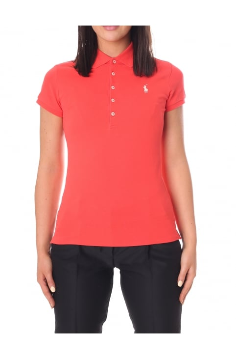 Women's Julie Skinny Short Sleeve Polo Top