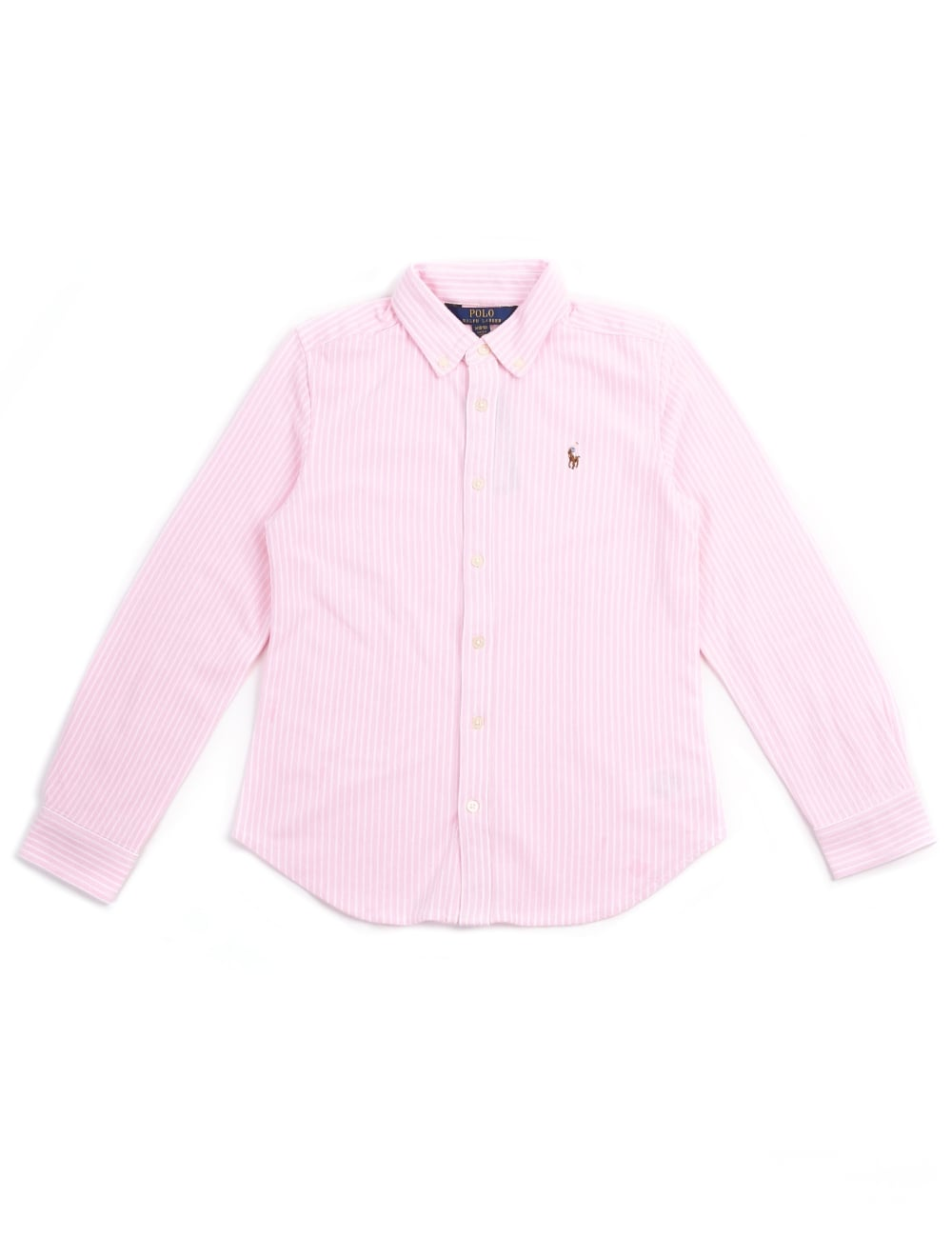 Polo Ralph Lauren Youth Girls Striped Long Sleeve Shirt 907772132