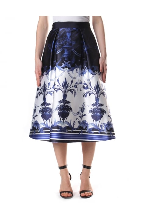 Women's Hunah Persian Blue Full Skirt