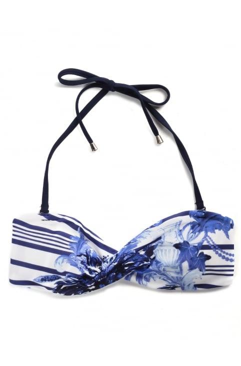 Women's Henroa Persian Blue Bikini Top