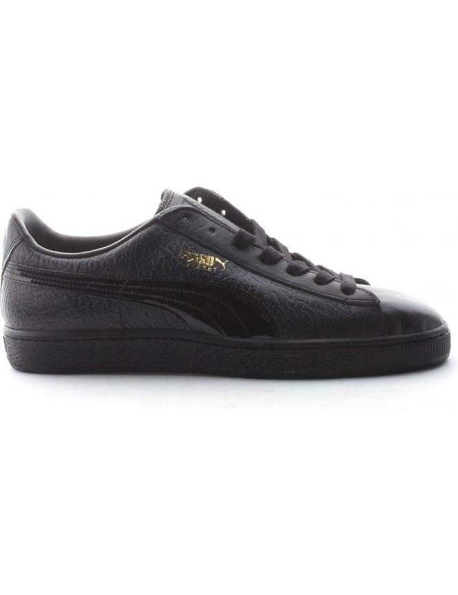 best service 202e1 af6dc Puma Basket Men's Croc Trainer Black/Gold