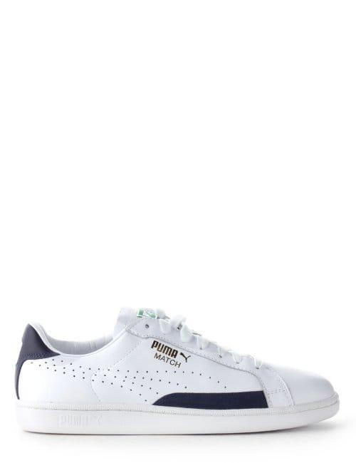 quality design 7bbcc 870c9 Puma Match 74 Men's Lace Up Trainer Navy/White