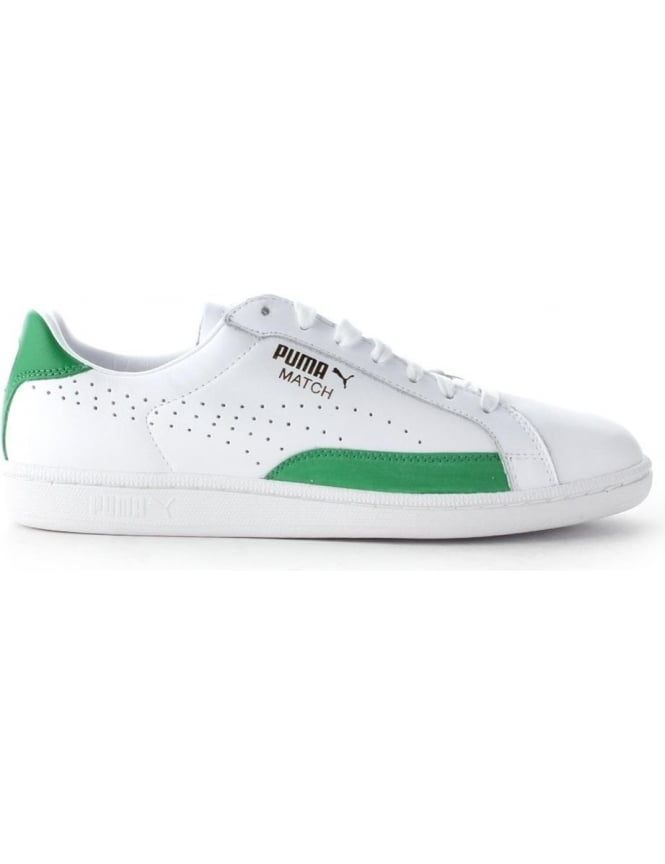 newest 161f4 4faa1 Puma Match 74 Men's Lace Up Trainer White/Green