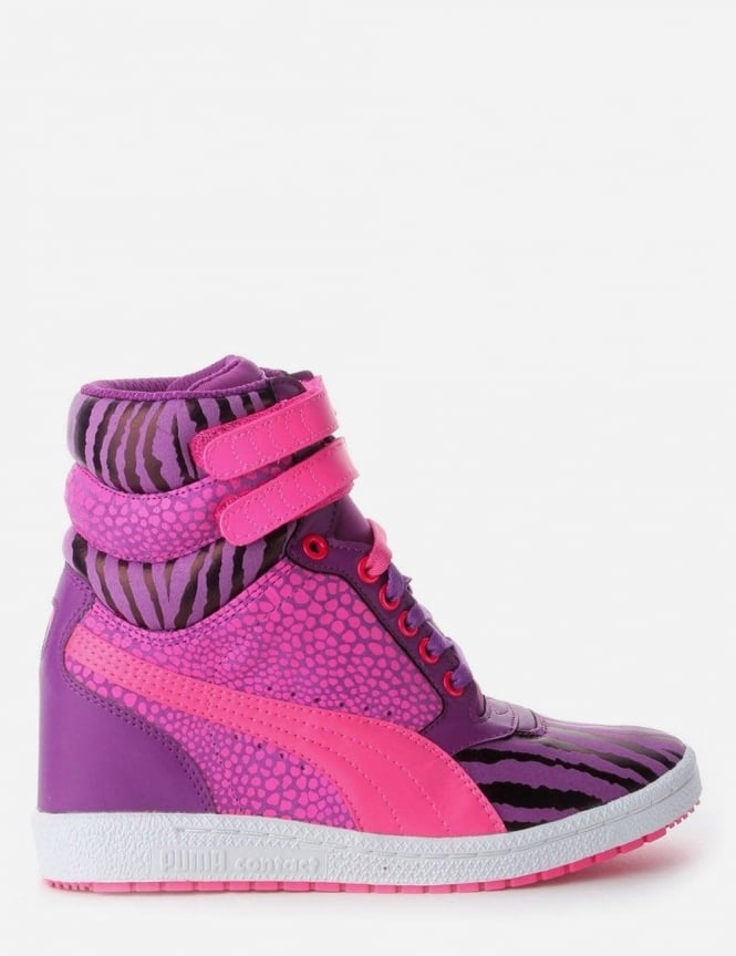 nouvelle collection 01083 d6ef4 Puma Sky Wedge Women's Multi Pattern Trainer Pink