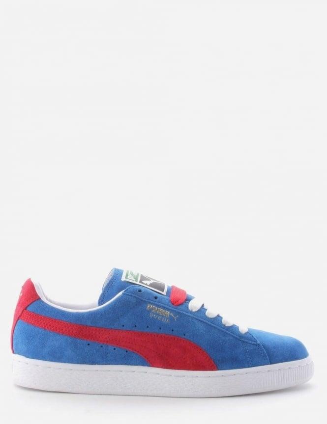 wholesale dealer c7095 040ac Puma Suede Classic Men's Trainer Blue/Red