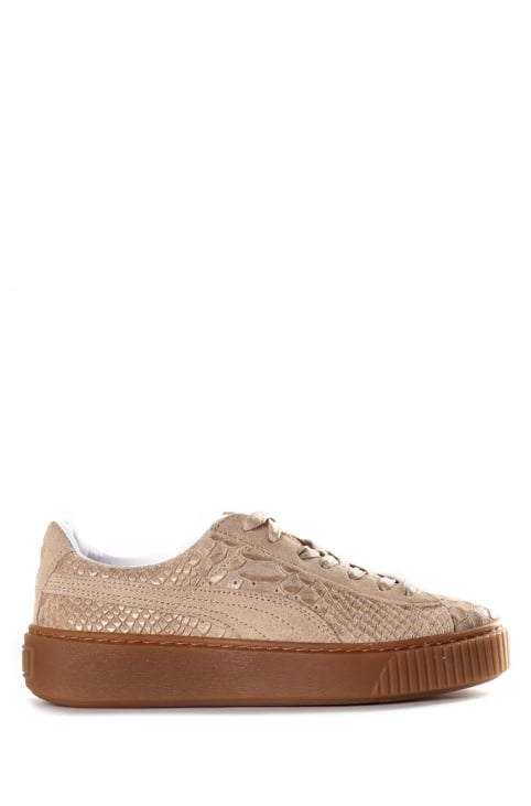 Women's Platform Exotic Skin Trainer