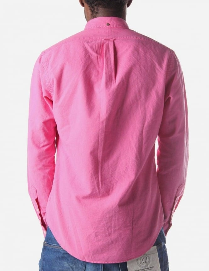 Fit L/S Oxford Men's Shirt Hot Pink