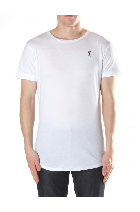 Curved Hem Men's Crew Neck Tee