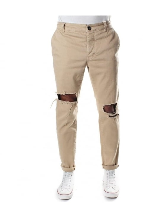 Men's Bloody Chino With Rips Tan