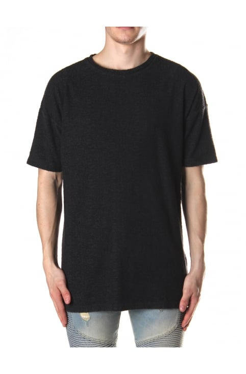 Men's Peluche Fade Out Wash Tee Washed Black