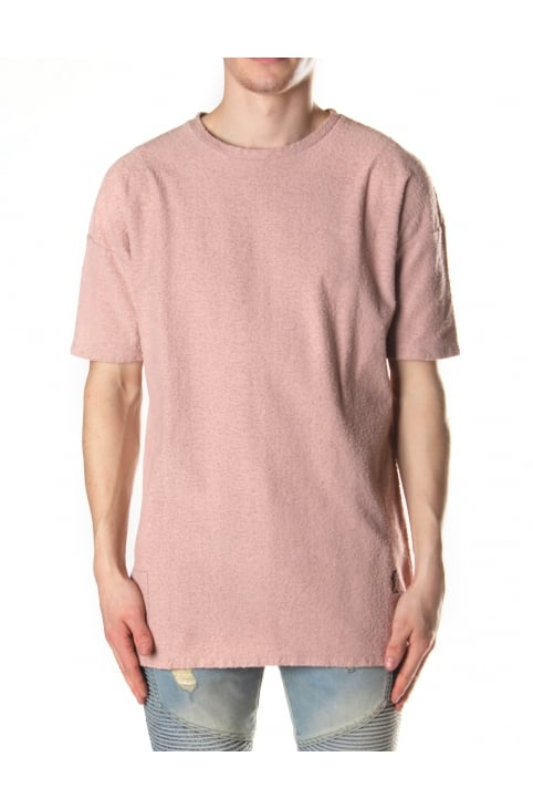 Men's Peluche Fade Out Wash Tee New Pink