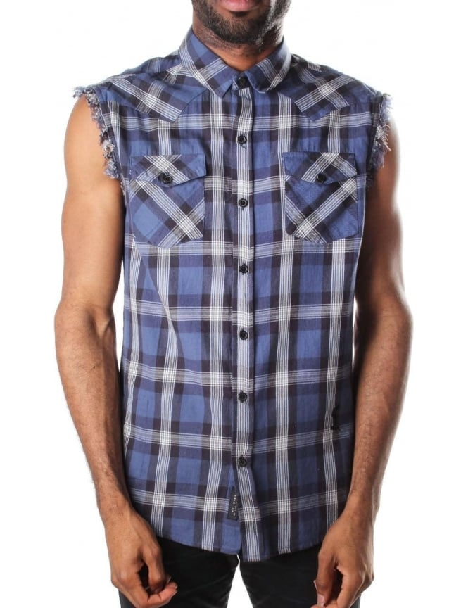 Religion Men's Utter Shirt Blue