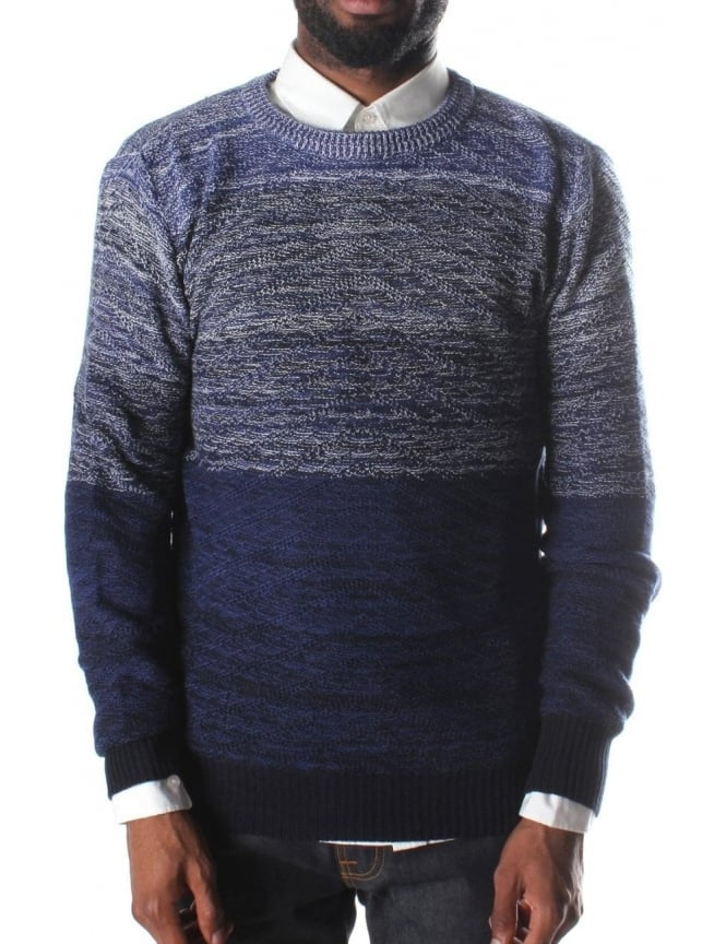 Religion Perfect Crew Neck Men's Long Sleeve Knit Blue