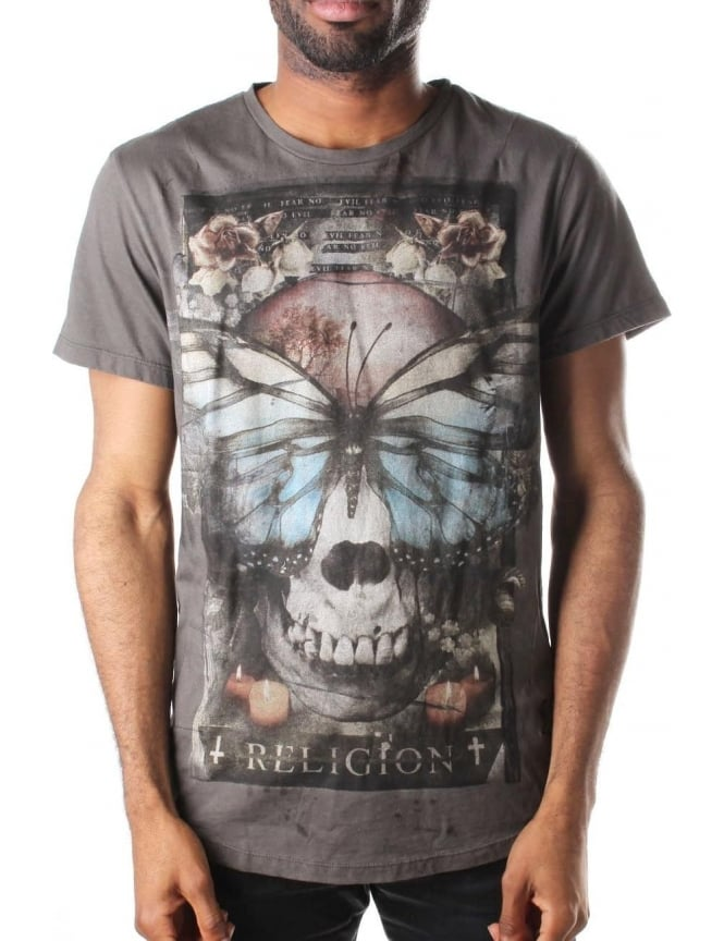 Religion Reclaim Men's Short Sleeve Scoop Neck Tee Black