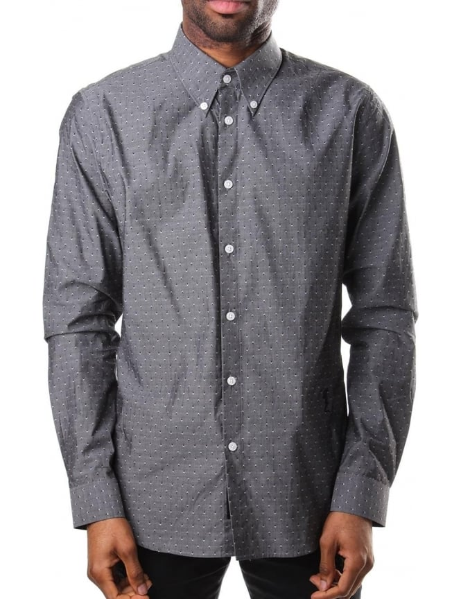 Religion Resent Men's Long Sleeve Shirt Steel