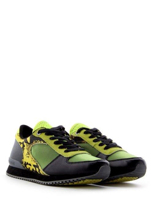 c2afeeca12d9 Vein Sneaker Women's Animal Trainer Black/Green