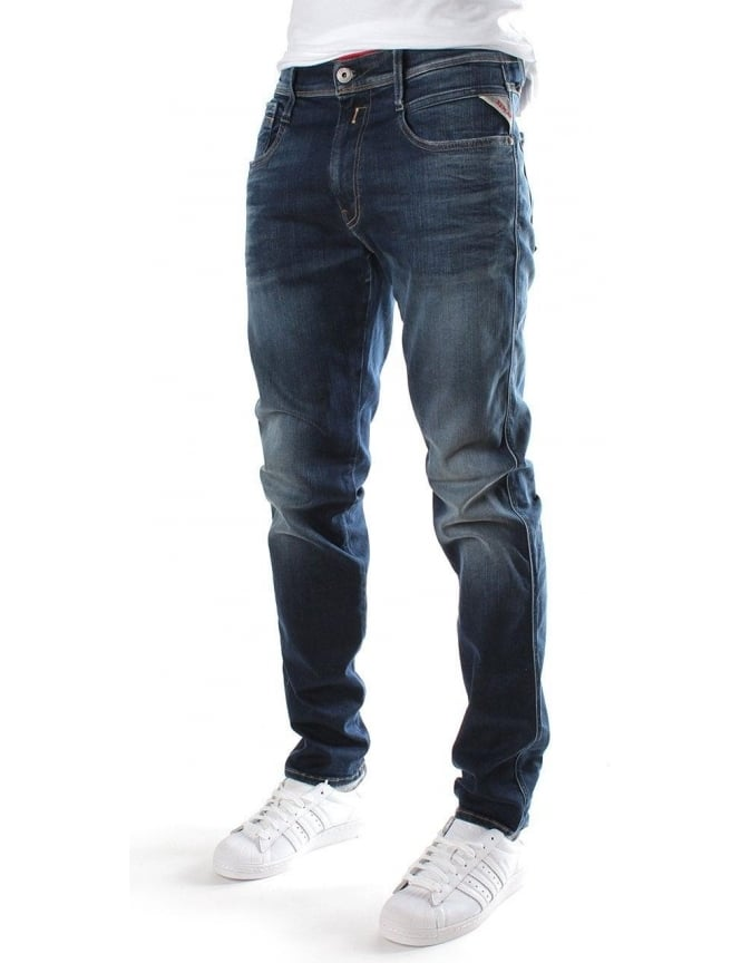 Replay Anbass Men's Hyperflex Stretch Jean Denim