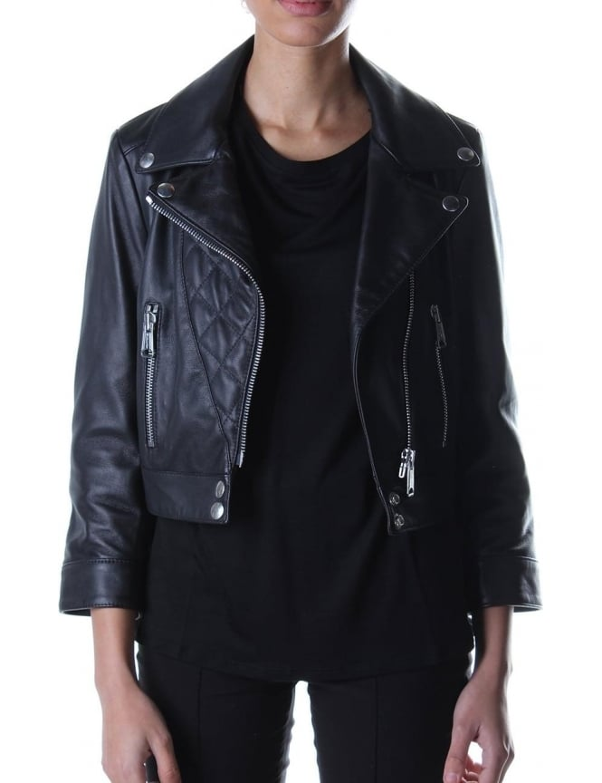 Replay Biker Style Women's Leather Black