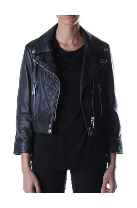 Biker Style Women's Leather Black