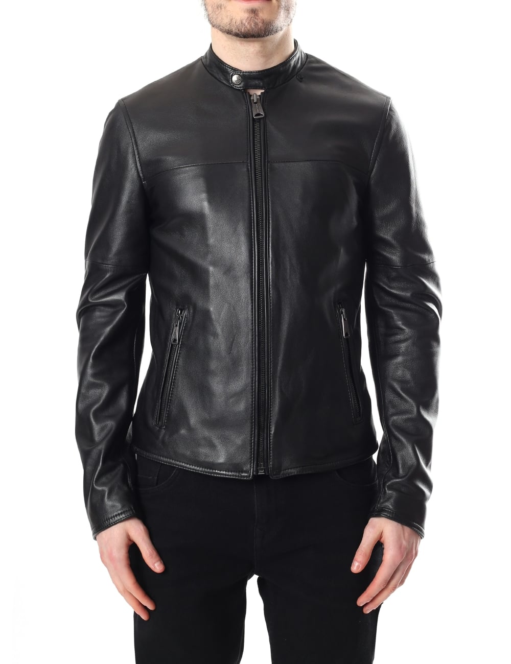 75d1e2f79ccc Replay M8782 Men s Zip Through Leather Jacket