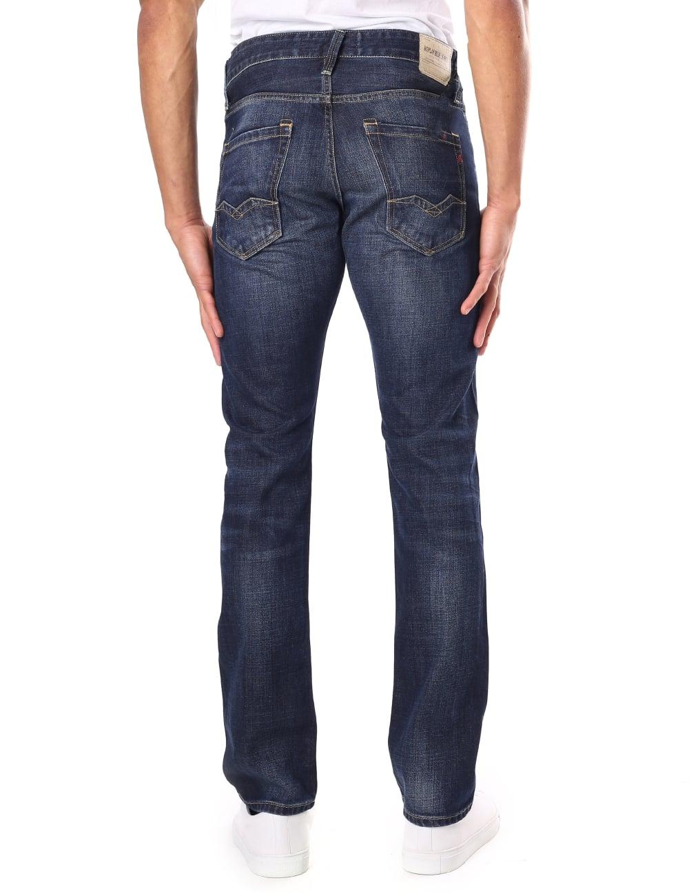 Replay Men s Waitom Regular Slim Fit Jean 02b40f92640a