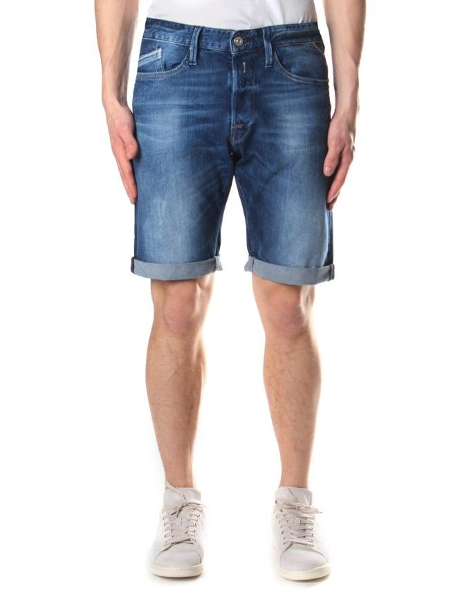 Replay Men 39 S Waitom Regular Slim Fit Shorts