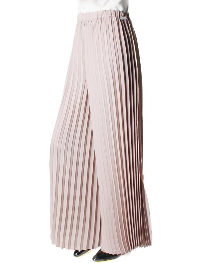 Replay Pleated Women's Trousers Beige