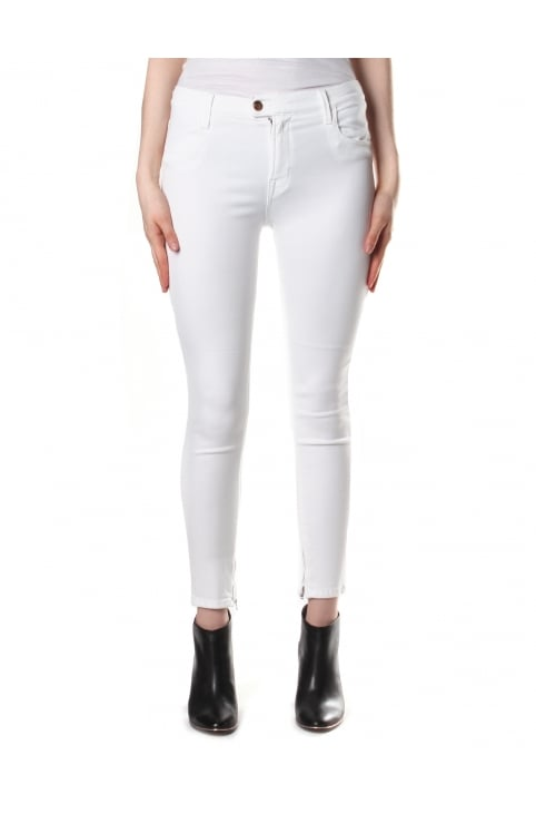 Women's Skinny Fit Cropped Jean White