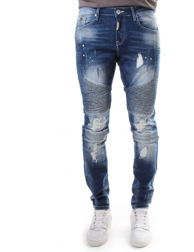 Represent Biker Men's Dark Jean Blue