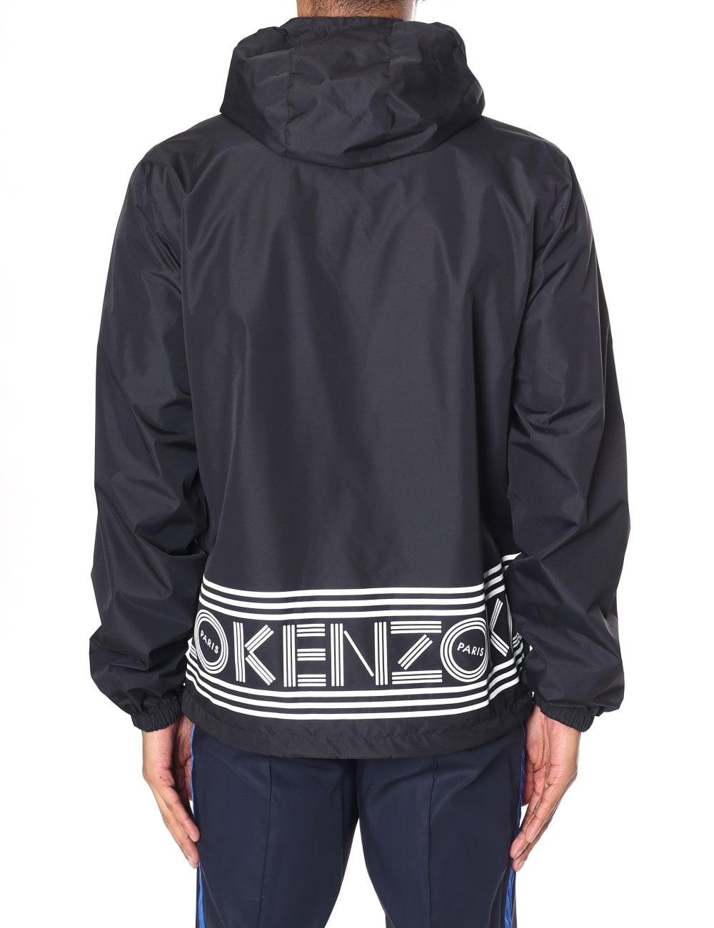 a1c42f8f Kenzo Men's Reversible Kenzo Logo Windbreaker Jacket