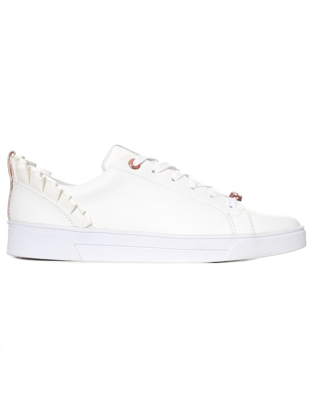 san francisco on feet images of sleek Ted Baker Women's Ruffle Detail Trainers