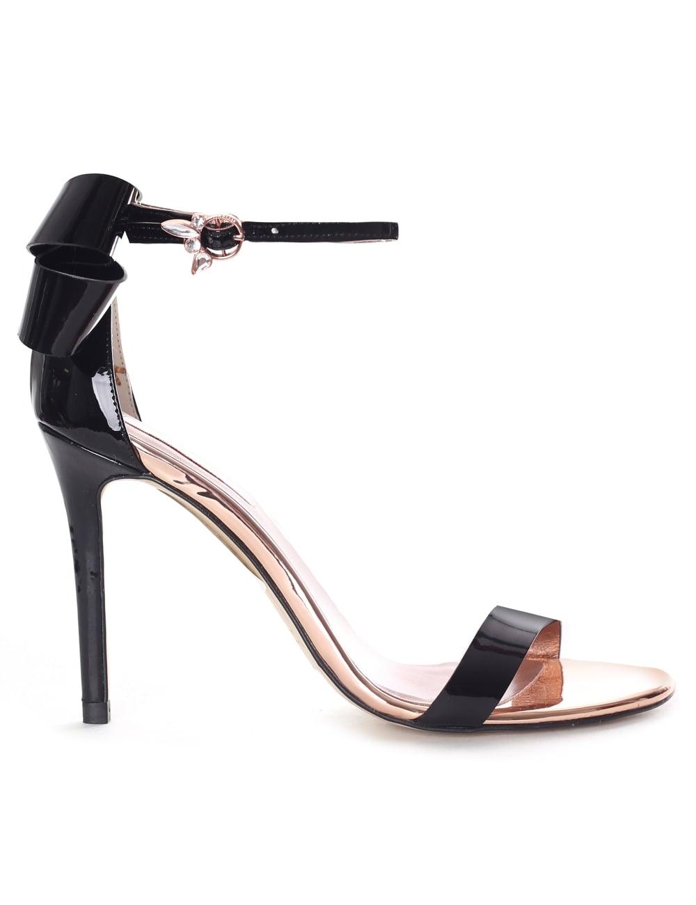 Sandals Heeled Sandalo Back Patent Women's Bow CQsxtBhrd