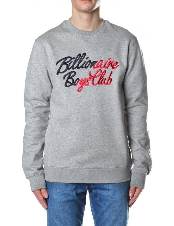 28f4b8fc4 Billionaire Boys Club Script Embroidered Men's Crew Neck Sweat Top