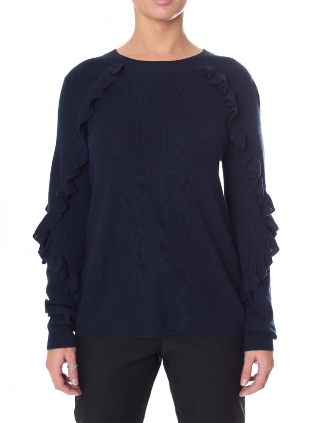 Second Female Women's Long Sleeve Sofie O-Neck Knit