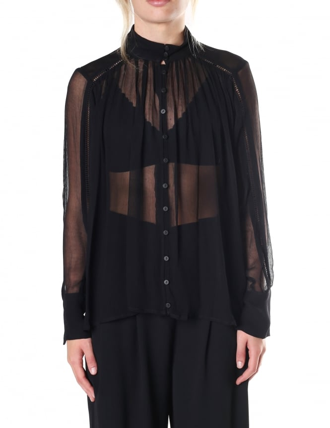 Second Female Wynona Women's Sheer Frill Blouse