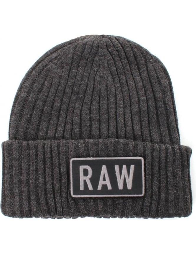 124ea0da G-Star Raw Sheldy Men's Knitted Beanie Hat Black