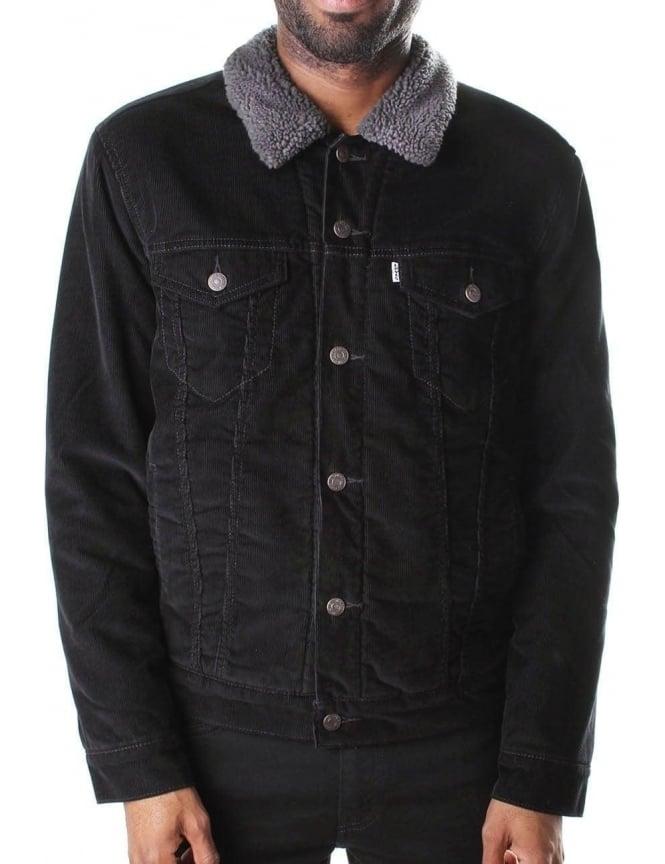 Levi S Sherpa Trucker Men S Jacket Black