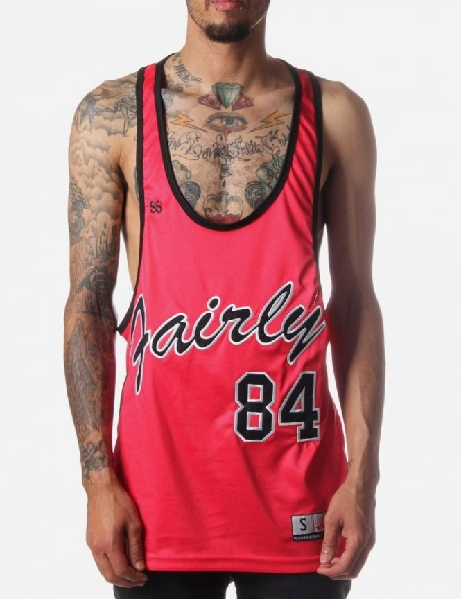 SikSilk Perforated Men s Basketball Vest Red cd5b04bfda06