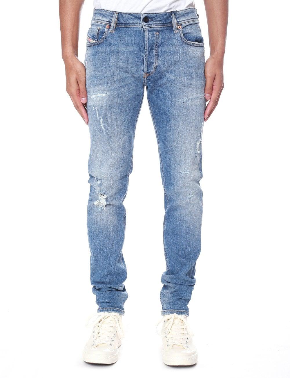 5c166dd488b52a Diesel Men's Sleenker 86AT Skinny Jeans