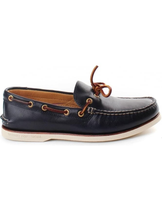 Gold Cup Men's Original 2 Eye Boat Shoe Navy