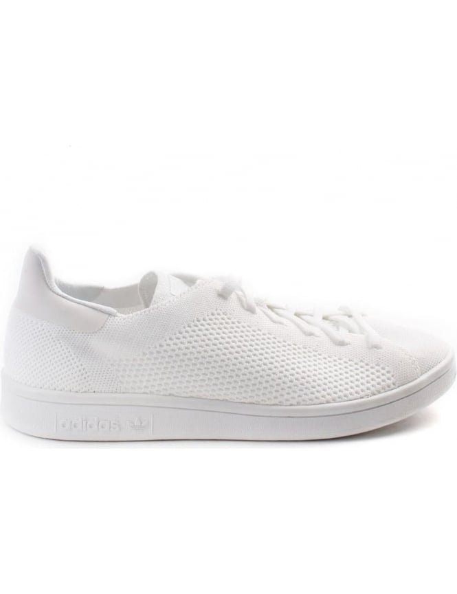 quality design 2f302 89c63 Adidas Stan Smith Prime Knit Men's Lace Up Trainer White