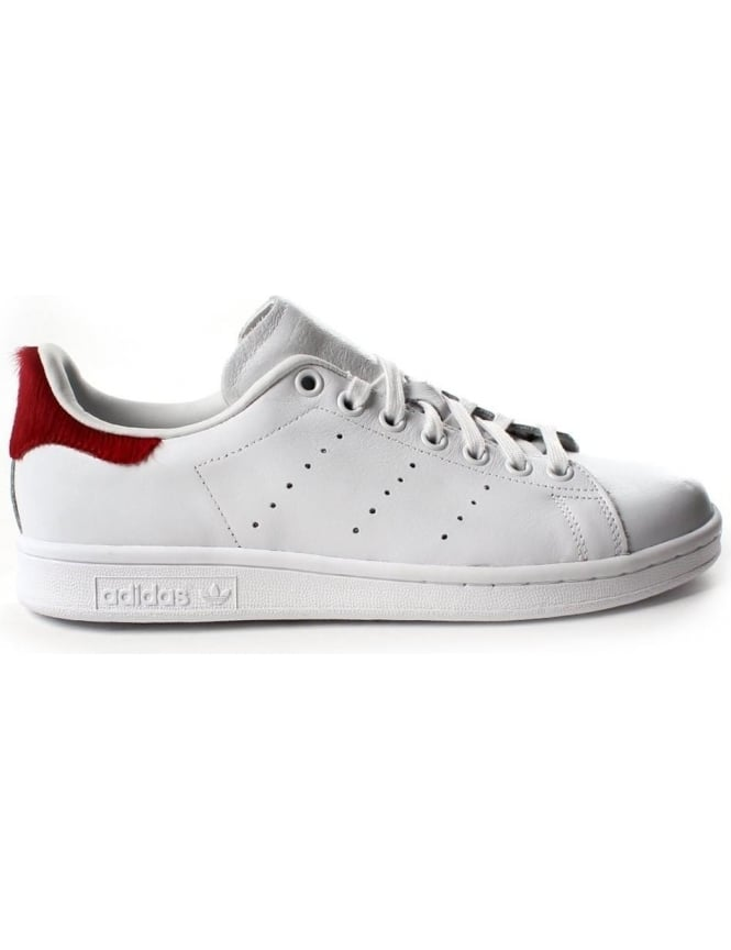 Stan Smith Women's Pony Hair Lace Up Trainer White