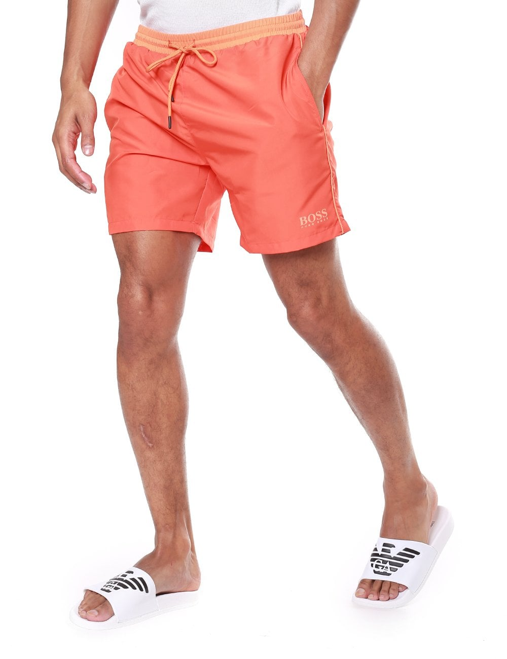 ea0c580444 Boss Bodywear Men's Starfish Contrast Waist Swim Shorts