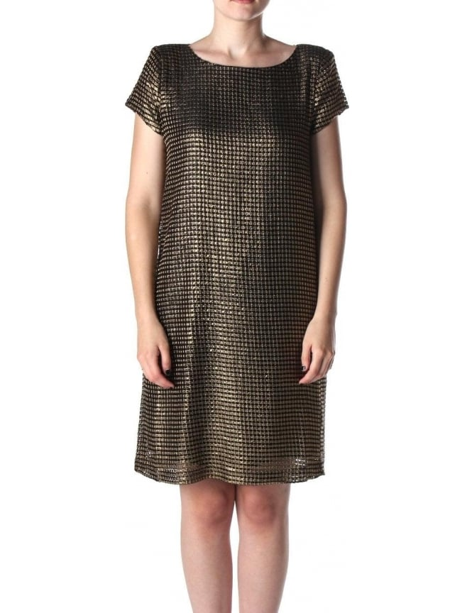 SuperTrash Devanda Women's Metallic Dress Gold