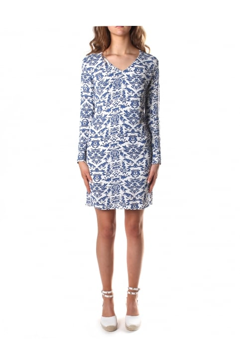 Women's Porcelain Print Dress